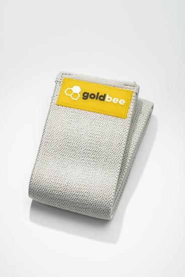 GoldBee Textilná Odporová Guma - Svetlo Sivá