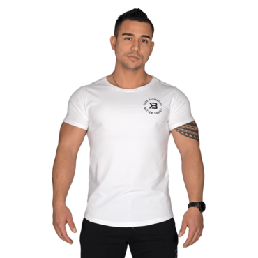Better Bodies Tričko Wide Neck Tee White