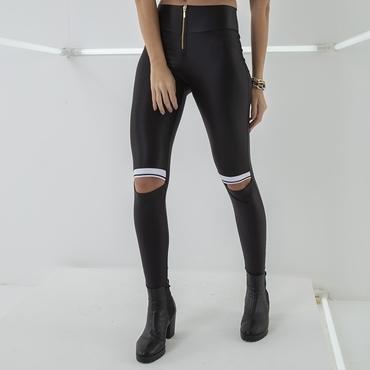 Labella Kalhoty Leather Black