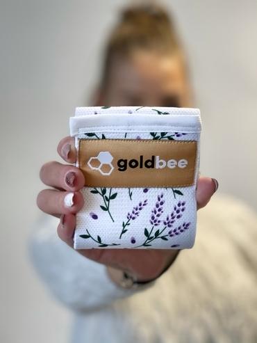 GoldBee Textilní Odporová Guma Levandulová