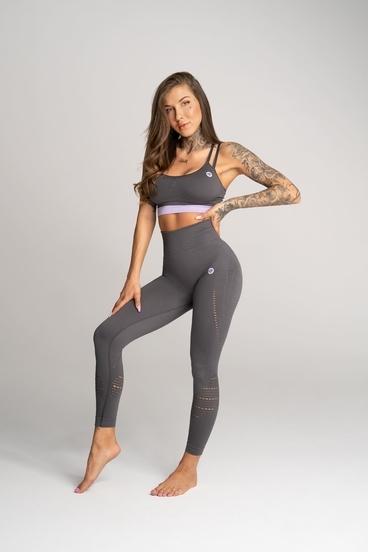 Gym Glamour Legíny Deynn Sivé