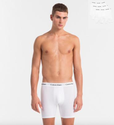 Calvin Klein 3Pack Boxerky Dlhé Bielé