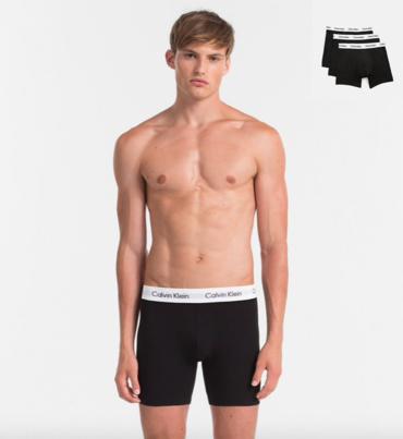 Calvin Klein 3Pack Boxerky Dlhé Čierné