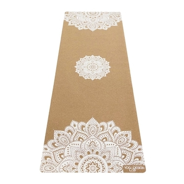 Yoga Design Lab 5.5mm Cork Yoga Mat - Mandala White