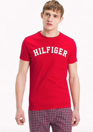 Tommy Hilfiger Pánske Tričko Iconic Red