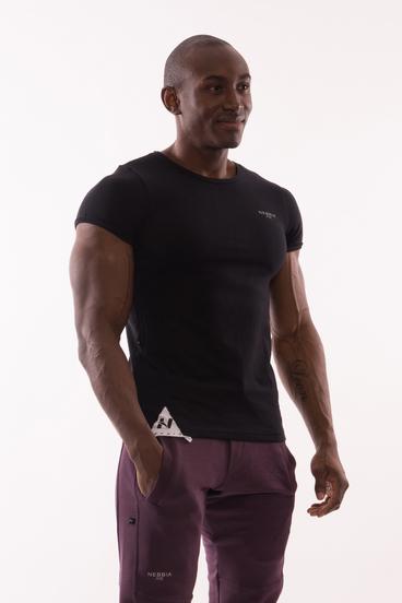 Nebbia Tričko 728 Muscle Back Čierné
