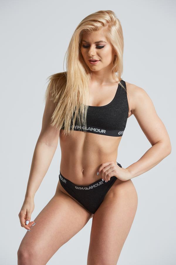 Set Spodné Prádlo Gym Glamour Black, XS - 1