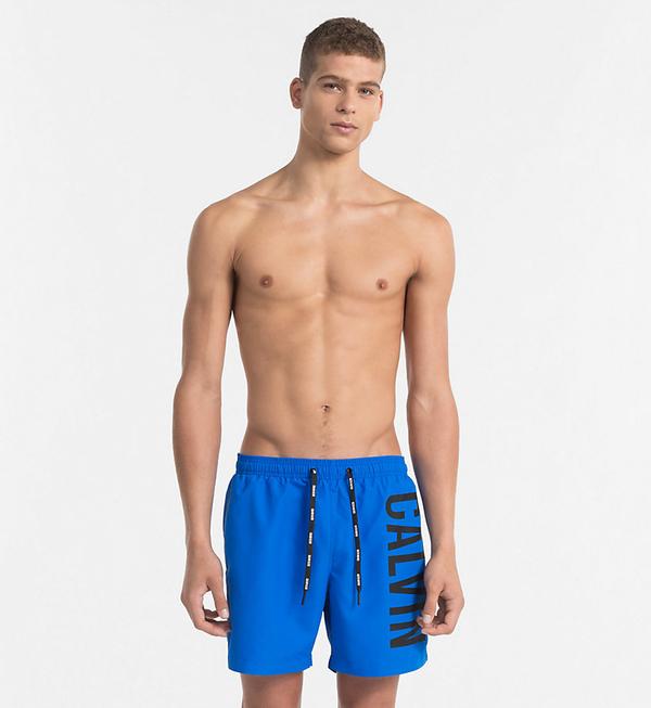 Calvin Klein Plavkové Šortky Intense Power Blue - 1