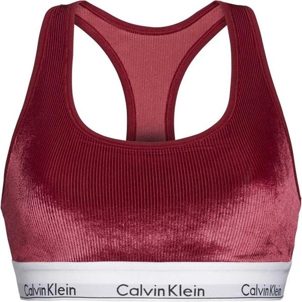 Calvin Klein Unlined Bralette Podprsenka Bordo, XS