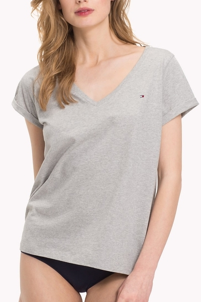 Tommy Hilfiger Women's  Pyjama Top šedá, XS - 1