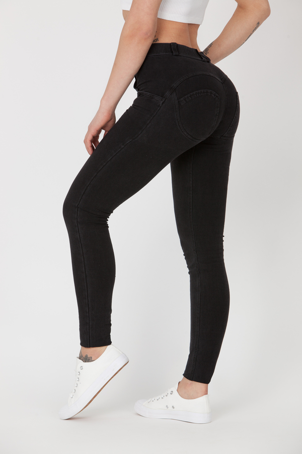 Boost Jeans Mid Waist Black Predobjednávka, XS - 1