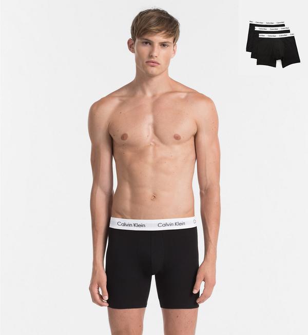 Calvin Klein 3Pack Boxerky Dlhé Black - 1