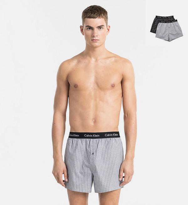 Calvin Klein 2Pack Trenky Čierne So Vzorom - 1