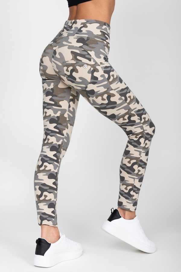 Hugz Camo Light High Waist Jegging, L - 1