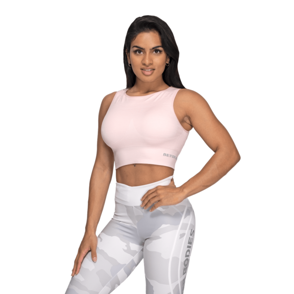 Better Bodies Top Rib Seamless Pale Pink Melange, S - 1