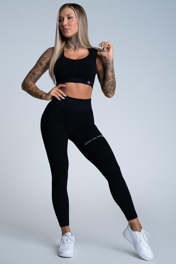 Gym Glamour Legíny Push Up Deep Black - 1