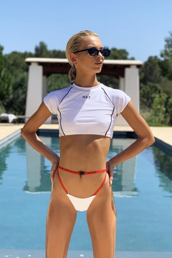 Hugz Plavky Tokyo T-Shirt Bikini White, M - 1