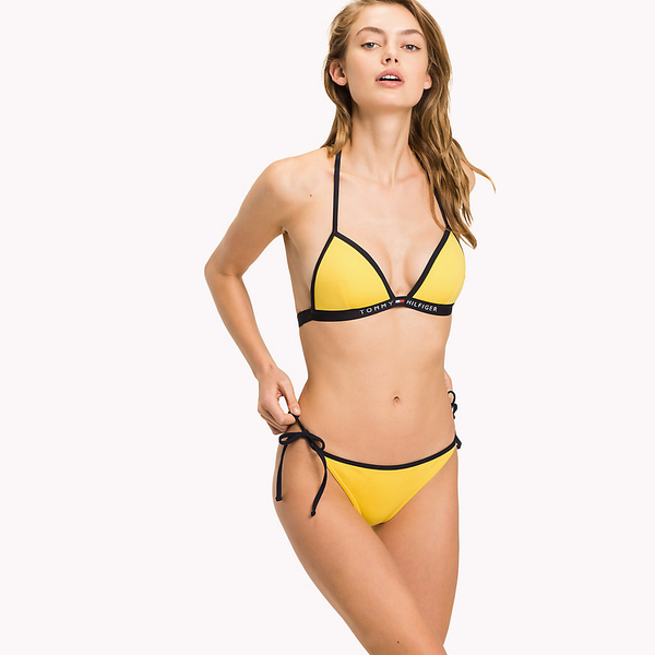 Tommy Hilfiger Cheeky String Side Plavky Yellow Spodní Diel, S - 1