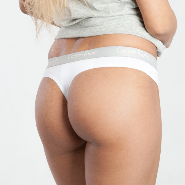 Calvin Klein Tangá Radiant Biele, M - 1