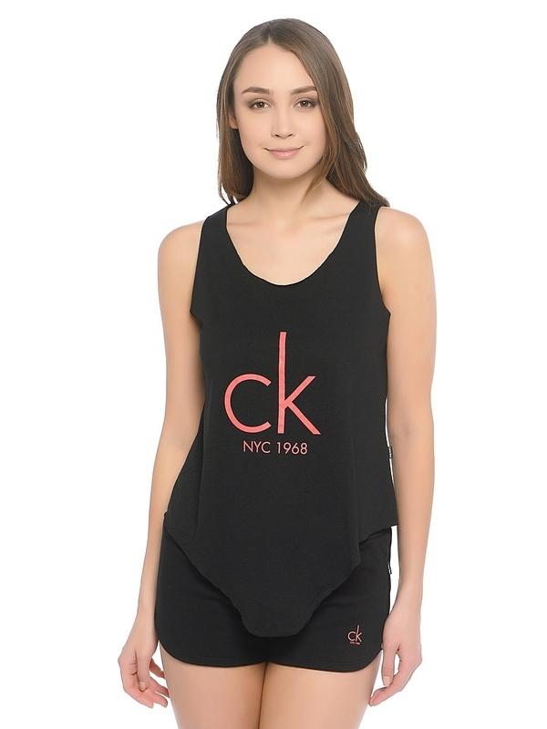 Calvin Klein Tielko Knotted Čierne - 1