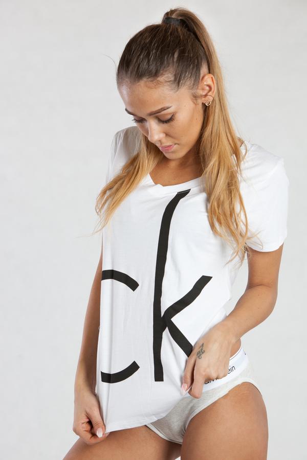 Calvin Klein Dámske Tričko Biele CK, L - 1