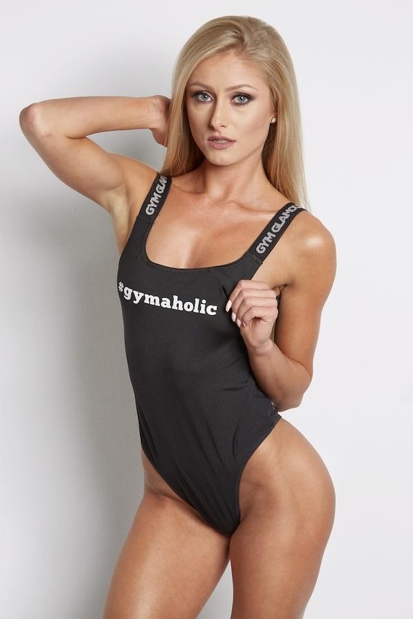 Bodýčko Gym Glamour Čierne, S - 1