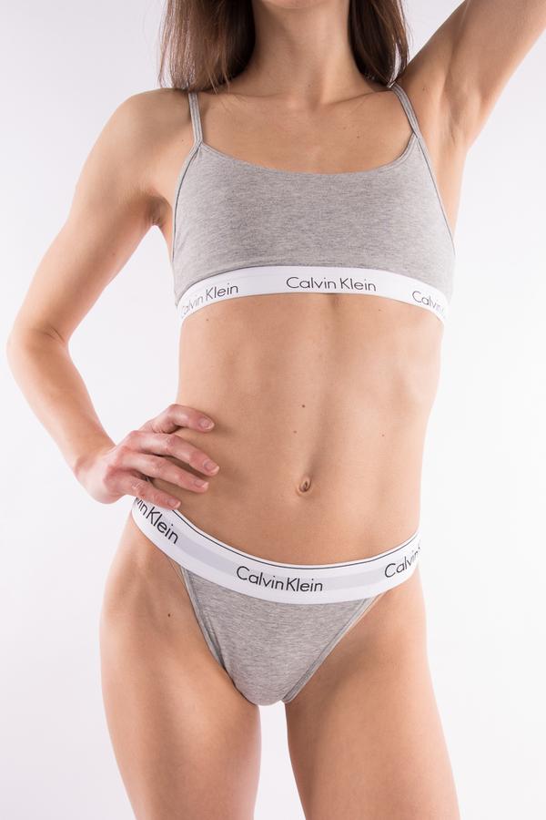 Calvin Klein Podprsenka Grey, S - 1