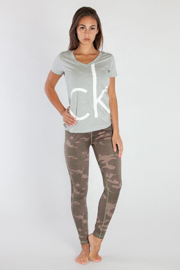 Calvin Klein Dámske Tričko Šedé CK, L - 1