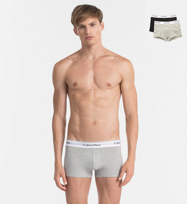 Calvin Klein 2Pack Boxerky Black And Grey, L - 1