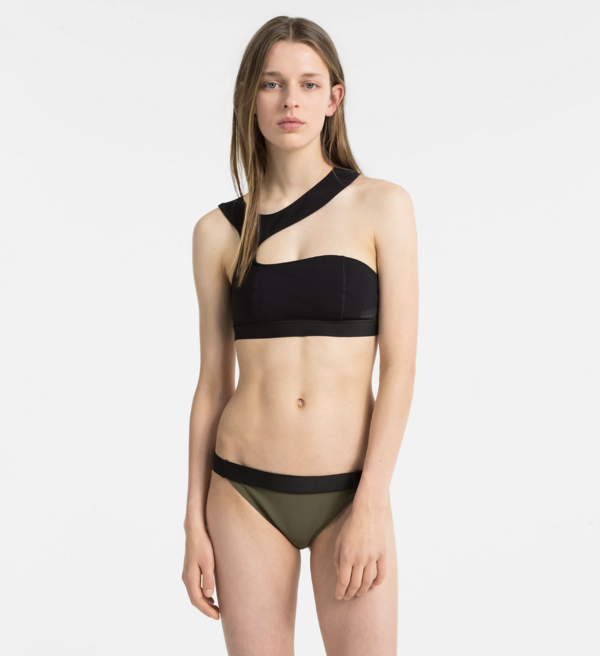 Calvin Klein Plavky Open Cut Black Vrchní Diel, S - 1