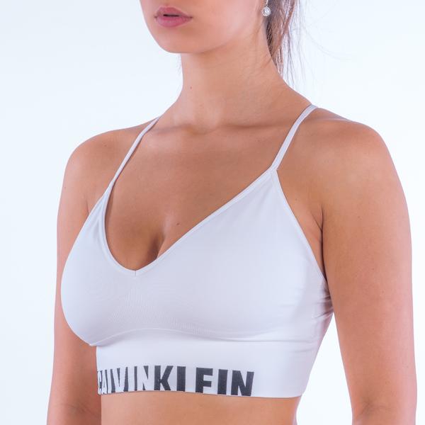 Calvin Klein Podprsenka Longline White, L - 1