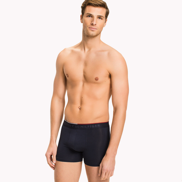 Tommy Hilfiger Cotton Stretch Boxerky Navy, L - 1