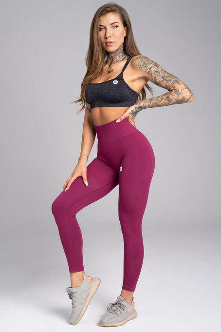 Gym Glamour Legíny Bezšvíkové Jelly Berry, XS - 1