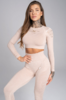 Gym Glamour Crop-Top Beige, L - 1/2
