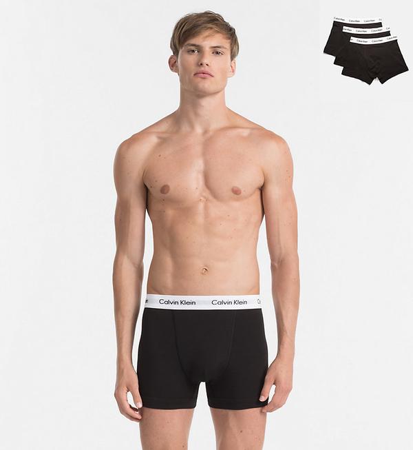 Calvin Klein 3Pack Boxerky Black - 1