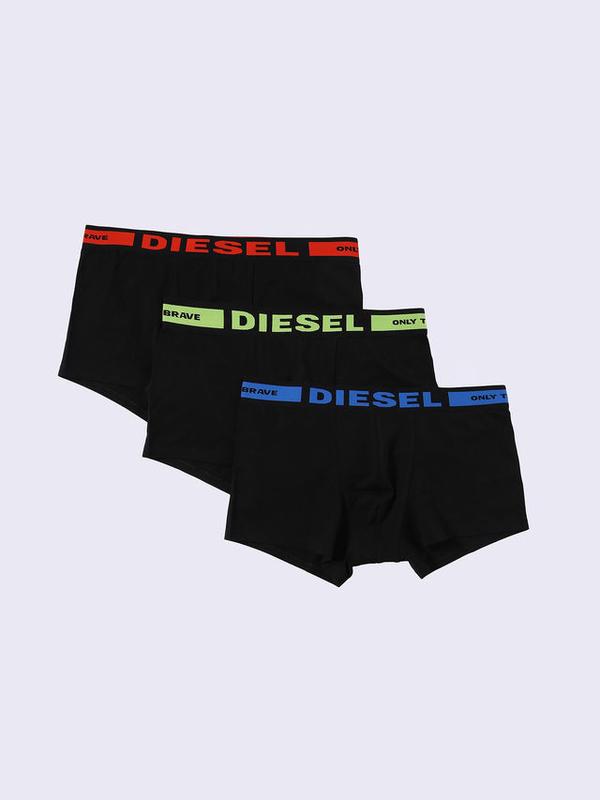 Diesel 3Pack Boxerky Čierne S Červeným, Zeleným A Modrým Nápisom - 1