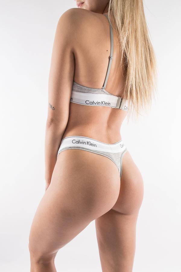Calvin Klein Thong Grey, L - 1