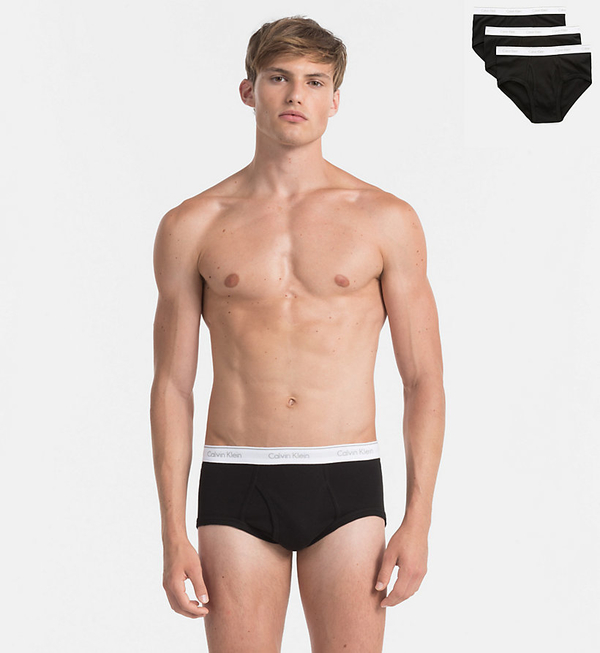 Calvin Klein 3Pack Slipy Black, L - 1