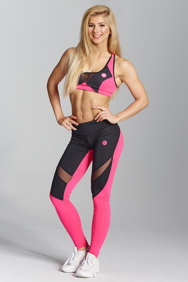 Gym Glamour Legíny Pink Fluo, L - 1