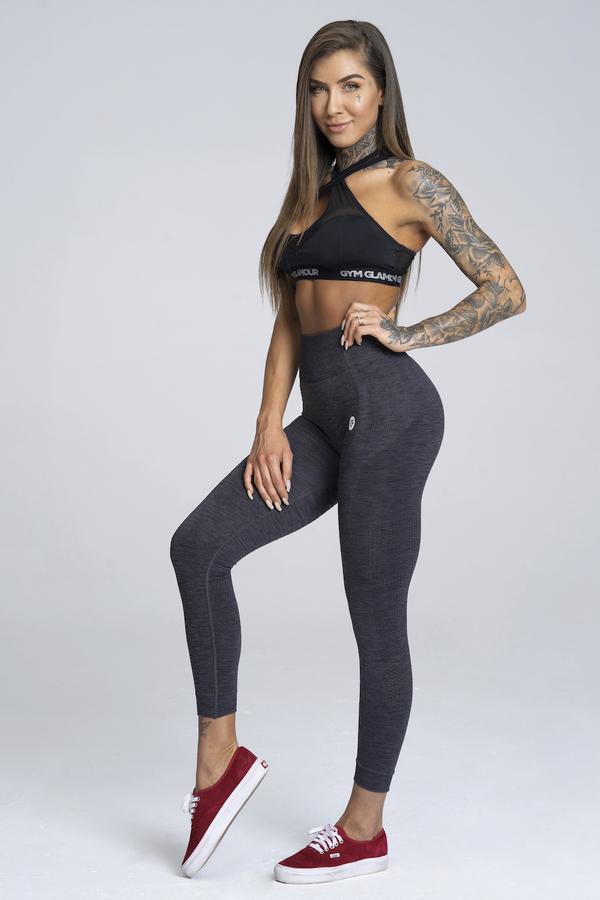 Gym Glamour Legíny Bezšvíkové Grey Melange - 1