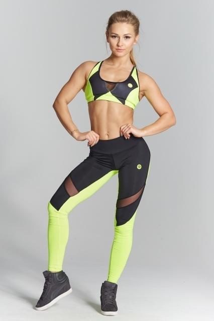 Gym Glamour Legíny Green Fluo, M - 1