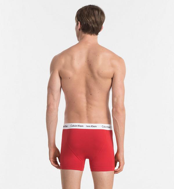 Calvin Klein 3Pack Boxerky Blue, Red&White, XL - 1