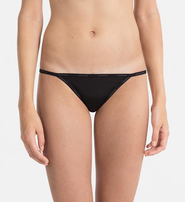 Calvin Klein Nohavičky Sheer Marquisette Black, S - 1