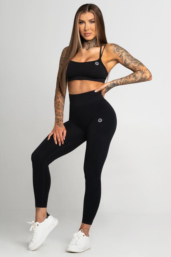 Gym Glamour Legíny Bezešvé Second Skin Black, L - 1