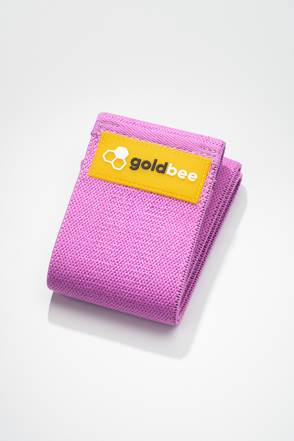 GoldBee Textilná Odporová Guma - Fialová, L - 1