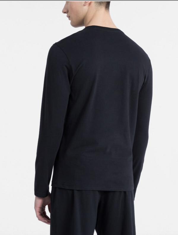 Calvin Klein Tričko S Dlhými Rukávmi Čierné - 2