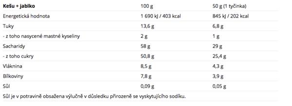 Nutrend Tyčinka Raw Seed Kešu A Jablko - 2
