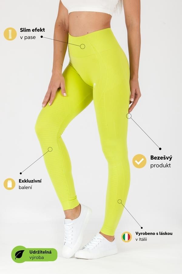 GoldBee Legíny BeSeamless Lime, XL - 2