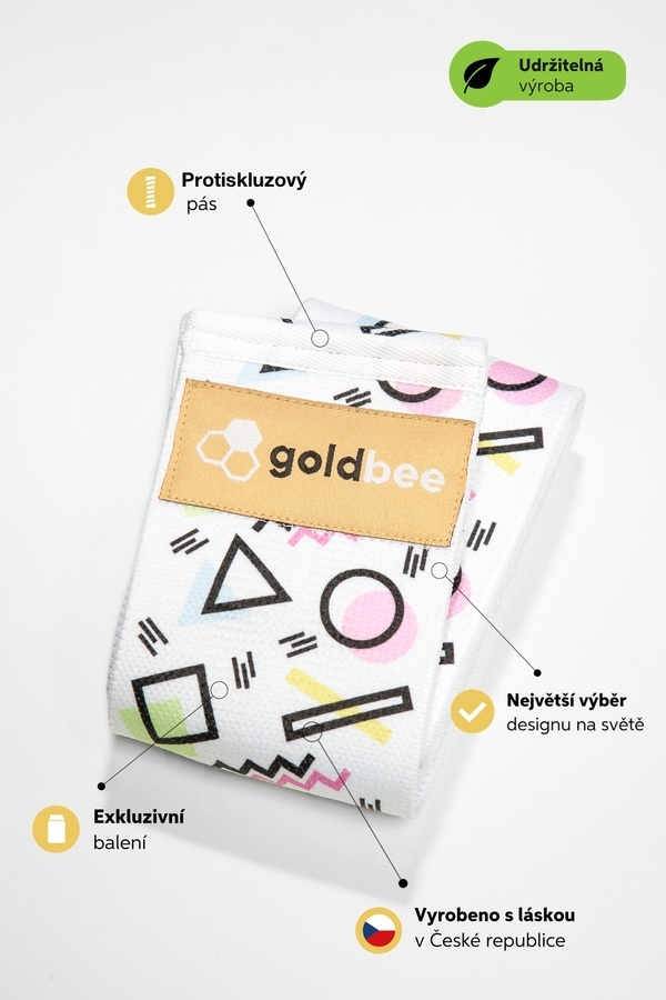 GoldBee Posilňovacia guma BeBooty Geometrická, M - 2