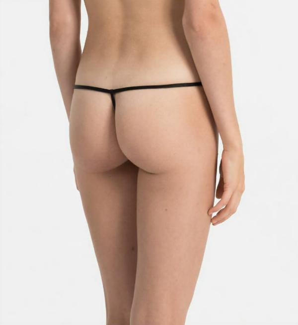 Calvin Klein Tanga Sleek Čierné - 2